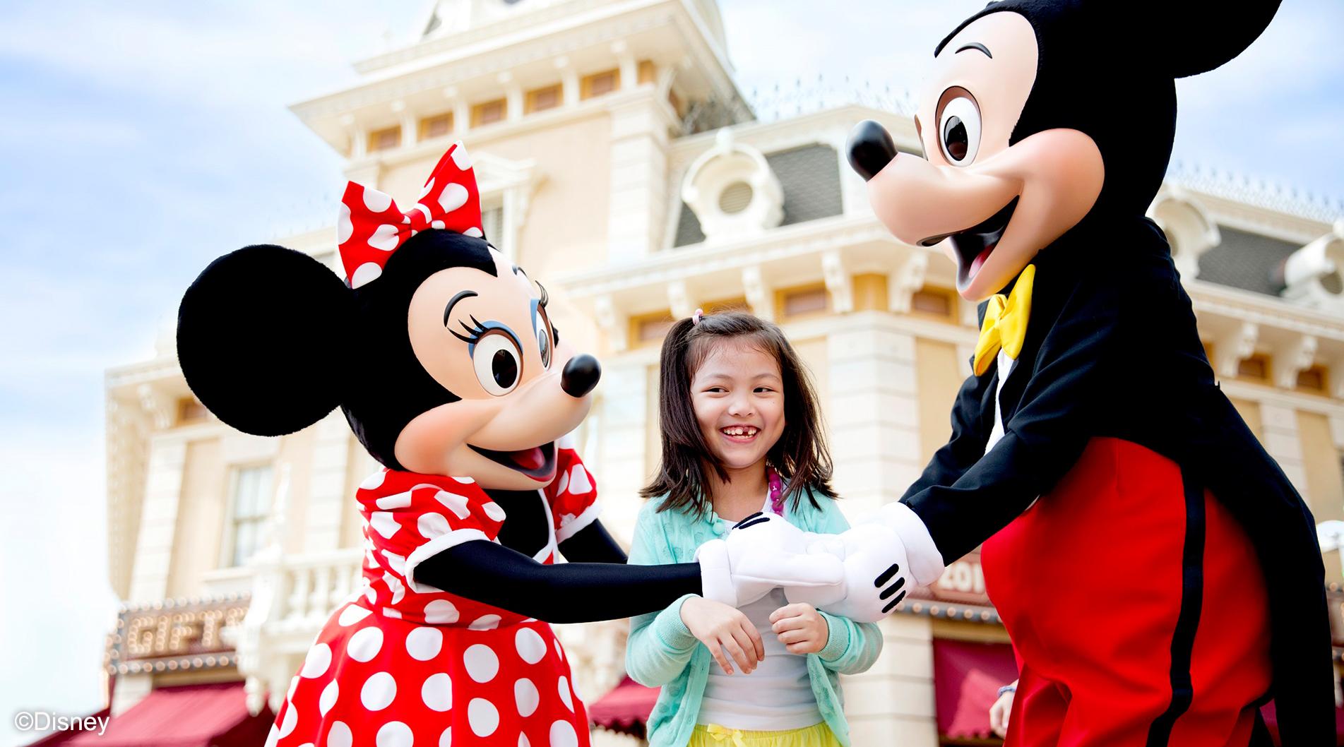 Mikcey and Minnie at Hong Kong Disneyland