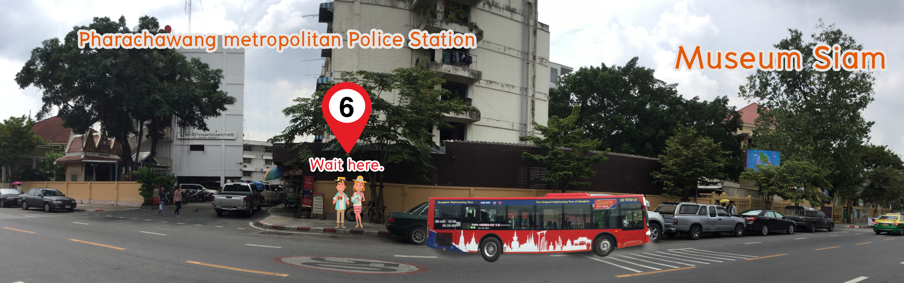 Bangkok Hop-On and Hop-Off Bus Tours by Giants City in